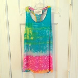 Rory Beca Rainbow Silk Sleeveless Top