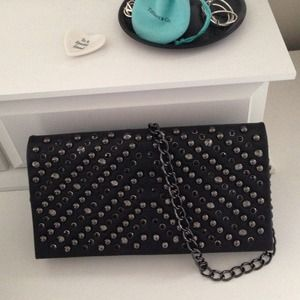 Handbags - ALDO Studded Black Crossbody Bag & Clutch