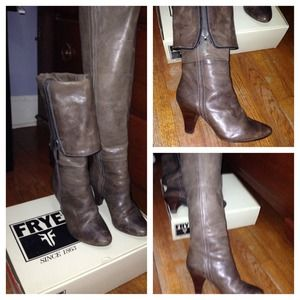 Frye boots in the Danika Pipping Zip