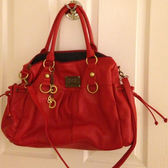c9aa5cc4fe38 D G Handbags - D G dolce and gabbana red bucket bag