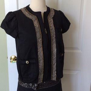 Zip up jacket/shirt top by BCBG Maxazria