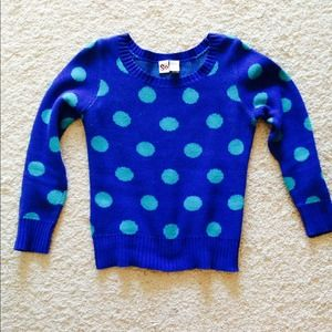 Warm blue polka dot sweater