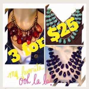 Reduced Three Statement  Necklaces