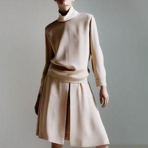Chloe slit front culotte skirt!
