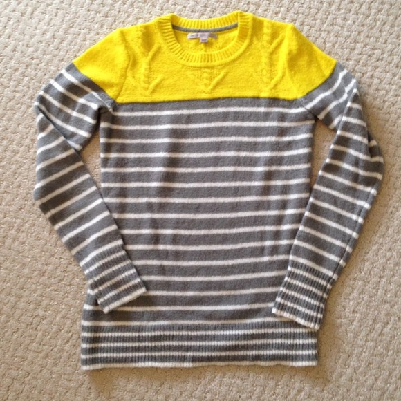 49% off GAP Sweaters - Bundle: Gap grey   yellow sweater! from ...
