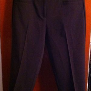 Chocolate Brown Capri Dress Pants