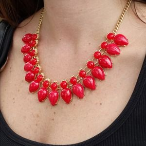Jewelry - J.Crew Inspired Red Statement Necklace