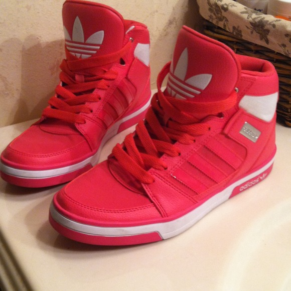 Adidas Shoes | Pink High Top Size 6