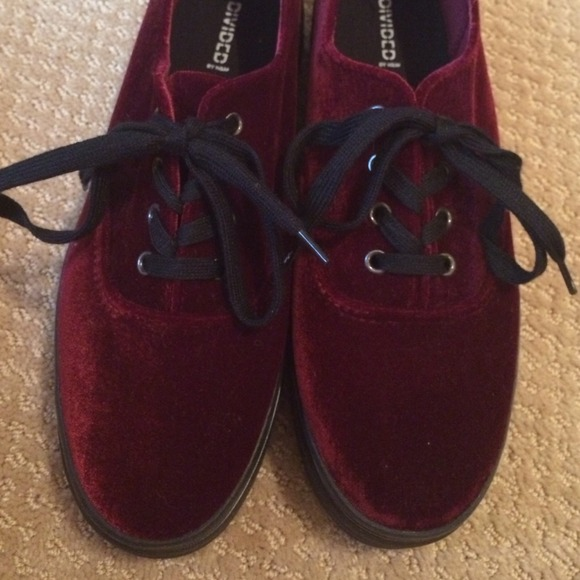8158e99ae45d 36% OFF H M SHOES - RED VELVET PLATFORM SNEAKERS   CREEPERS FROM MEGAN S  CLOSET ON POSHMARK on The Hunt