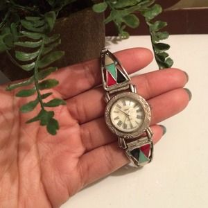 collezio Jewelry - Vintage Silver Quartz Watch Bracelet