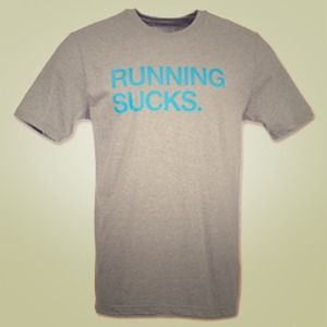 Nike Running Sucks Gray Blue T Shirt S!