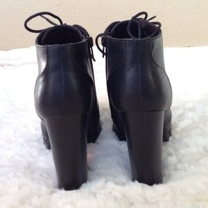 Shoes - New Black Lace Up Chunky Heel Booties 3