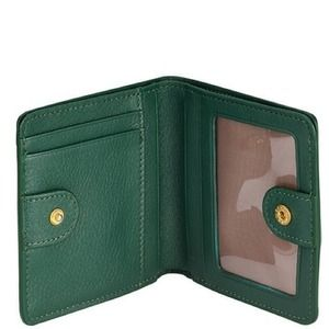 GiGi New York Clutches & Wallets - Emerald Mini Fold Wallet