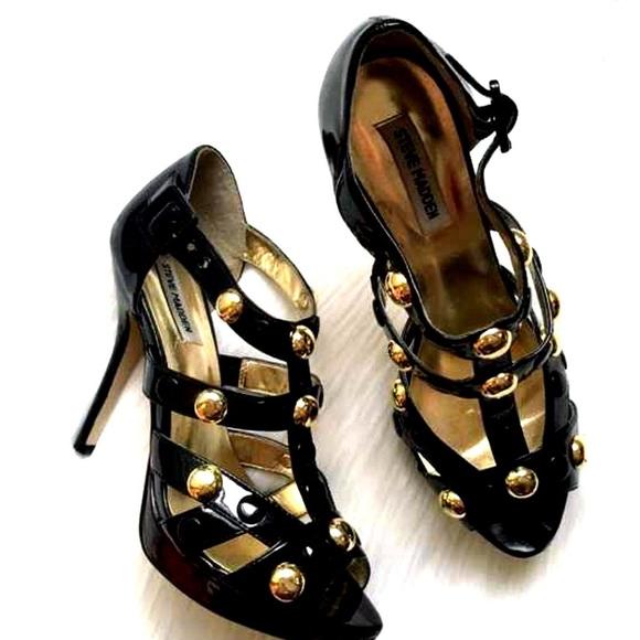 Steve Madden Gold Studded Caged Heels!