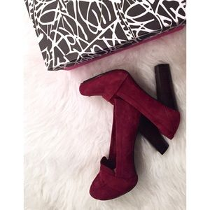"DVF ""Roxanne"" Suede Loafer Pumps"
