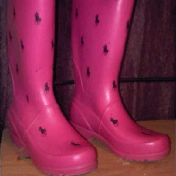 Ralph Lauren Shoes   Pink Polo Rain