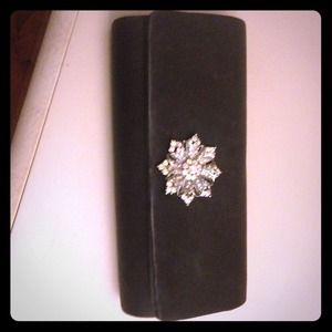 Black with crystal Evening clutch