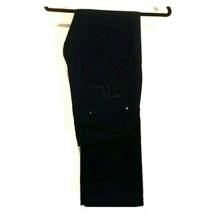 Zara Dark Blue Womens Pants, rhinestone detail