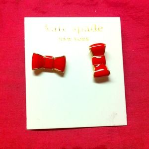 kate spade Jewelry - Red bow kate spare earrings studs