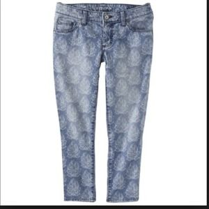 📛New Floral jeans size 4
