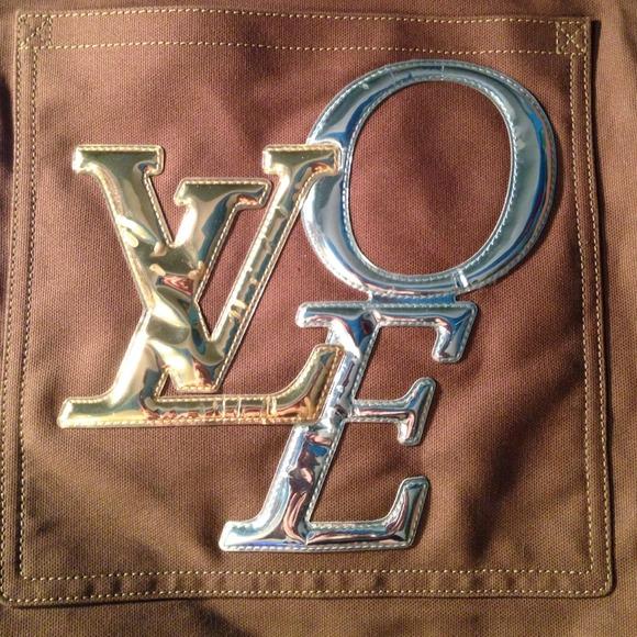 2aab6541cb1 Authentic Louis Vuitton That's LOVE Canvas Tote