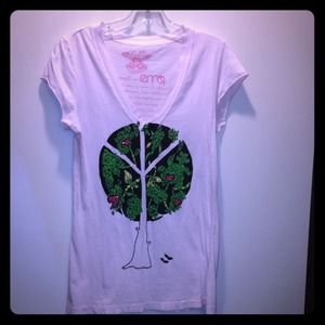 "Signorelli Tops - Pink ""Peace-Tree"" T-Shirt"