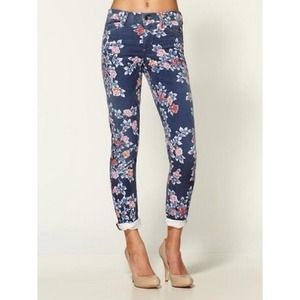 Lauren Conrad Pants - NEW LC Navy Floral Jeans