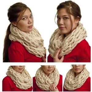NaomiHa Accessories - Arm knit chunky infinity scarf