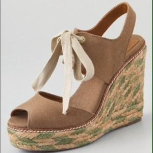 Tory Burch Linley High Espadrille Olive 10 NWT box
