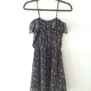 NWOT Lucca Couture Floral Chiffon Dress