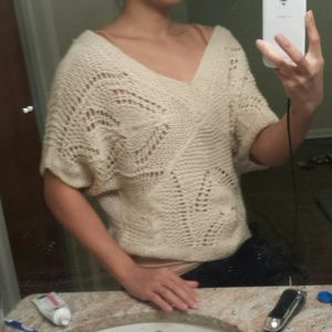 Forever 21 Sweaters - Forever 21 crochet oversize slouchy sweater