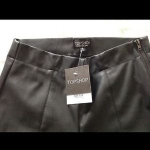 NWT Topshop faux leather pants