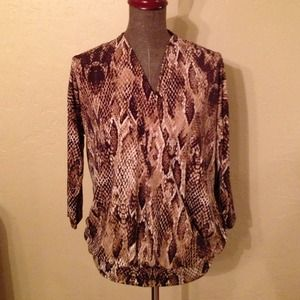 Anne Klein Tops - ***SOLD*** Ann Klein Loose Fitting Chocolate