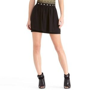 Black Studded Layer Skirt