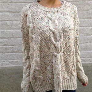 Accessories - 🎉Host Pick🎉Cream color dot knitted sweater