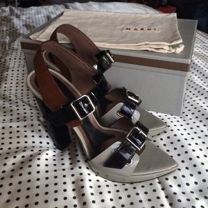 SOLD!! !!Host Pick!! Marni heeled buckle sandals