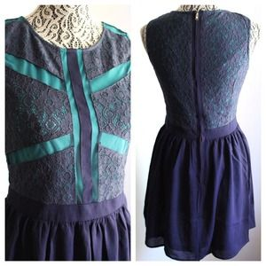 Dresses & Skirts - Wrapped In Blue Lace Cross Dress