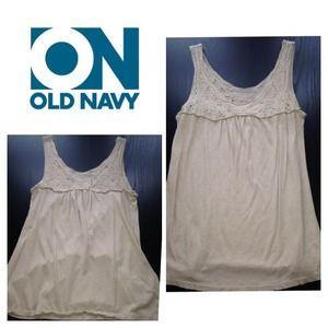 Old navy tan eyelet tank.  Xs