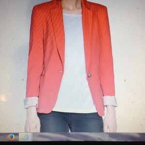 Zara Basic blazer with roll up sleeve