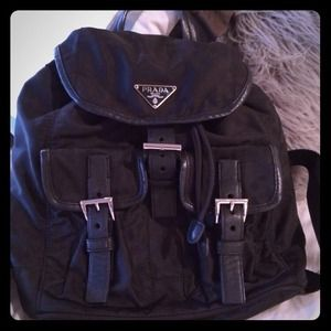Prada nylon and leather backpack/purse!