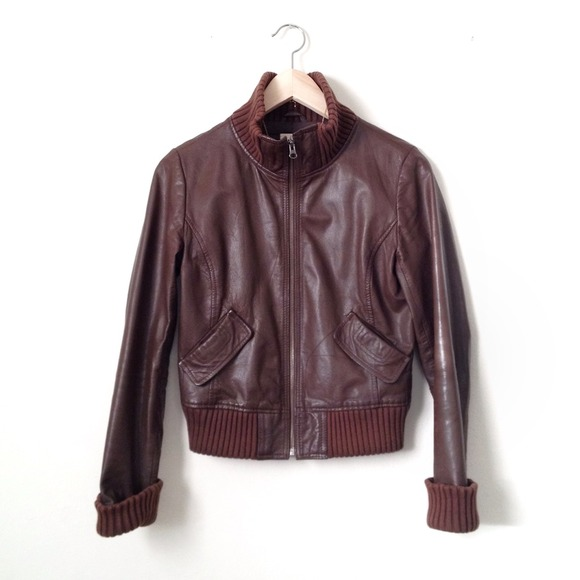 Frenchi Jackets & Coats - BUNDLE -- leather bomber and fringe top