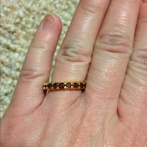 Jewelry - Not quite red stone infinity ring
