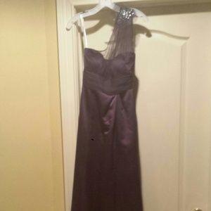 Plum color formal dress