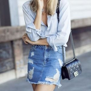 Abercrombie Fitch Distressed Skirt