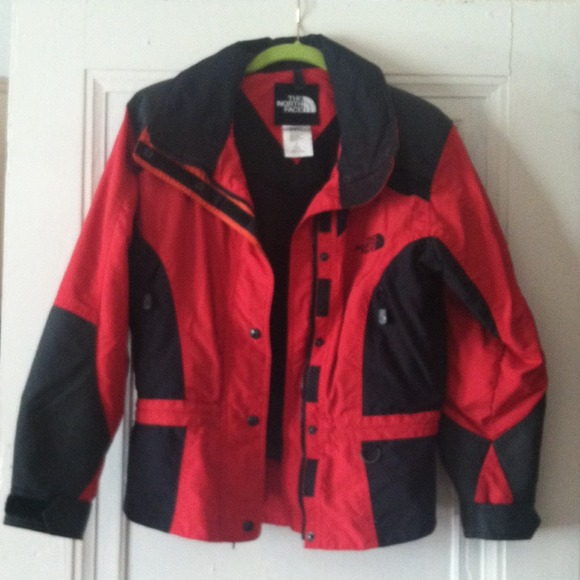 The North Face Jackets Coats Northface Red And Black Jacket
