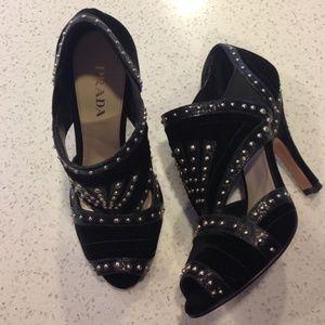Prada Shoes - 🆕LISTING! PRADA black velvet Bootie
