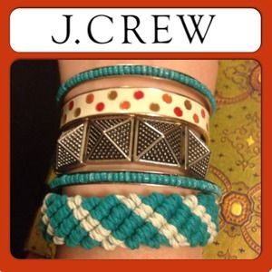 J. Crew Jewelry - J.CREW Braided Cotton Rope Bracelet Turquoise NEW