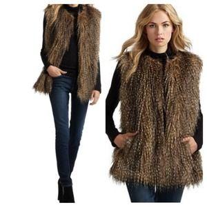 via spiga Outerwear - Via Spiga Faux Fur Vest