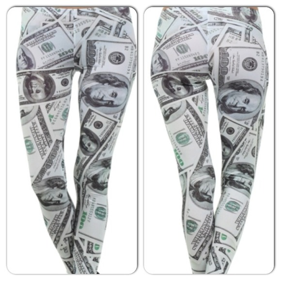 Pants Money Tights 100 Dollar Billsall Over Poshmark