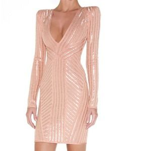 🎉PRICE DROP!!🎉 Pink Bandage Dress